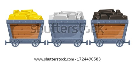 Mine cart vector design illustration isolated on white background