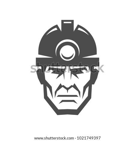 miner in a helmet logo collier