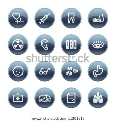 Mineral drop medicine icons
