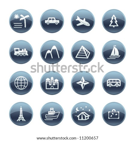 Mineral drop travel icons
