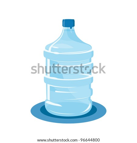 mineral water bottle isolated on white
