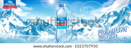 mineral water bottle with pure