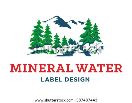 mineral water label design