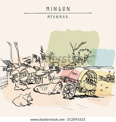 mingun near mandalay  myanmar