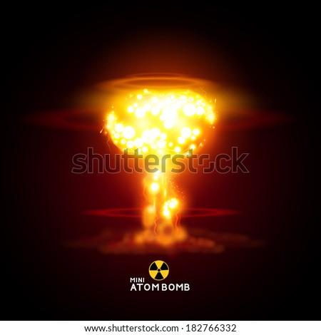 mini atom bomb   vector