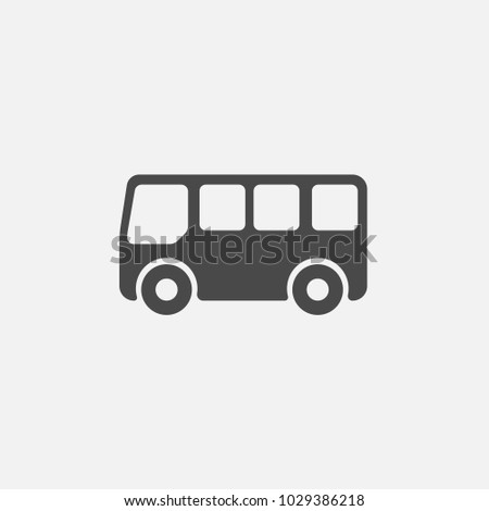 mini bus icon for transportation