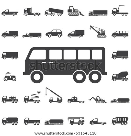 Mini bus icon. Transport icons universal set for web and mobile