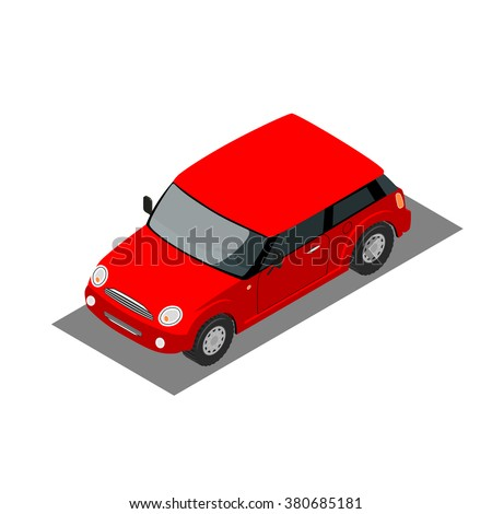 mini car on a white background