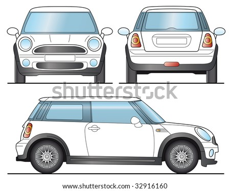 Mini Car Template Layout for presentation Vector