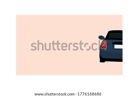 mini cooper post card design