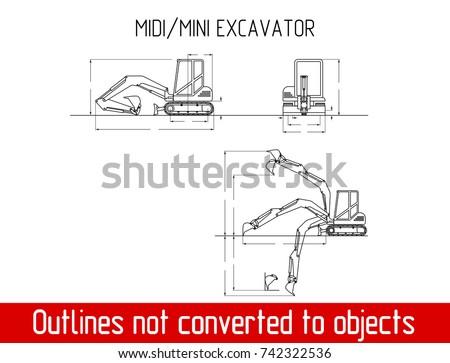 Mini Excavator Free Vector Art - (32 Free Downloads)