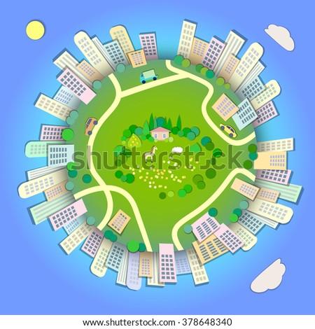 miniature globe showing various