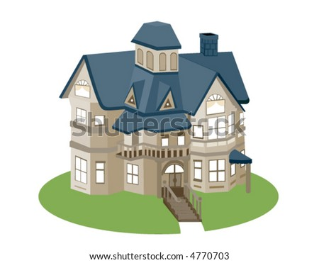 miniature house vector