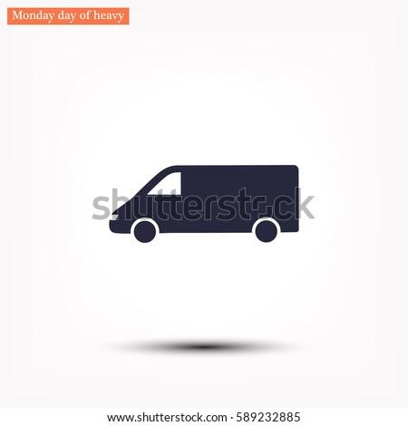 minibus vector icon 10 eps