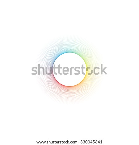 Minimal abstract color blend circle design background  \ Eps 10 stock vector illustration