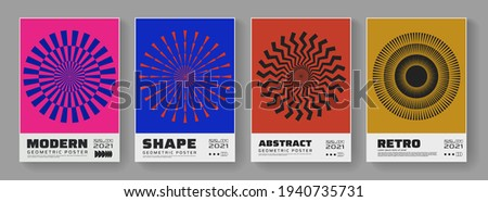minimal abstract posters set