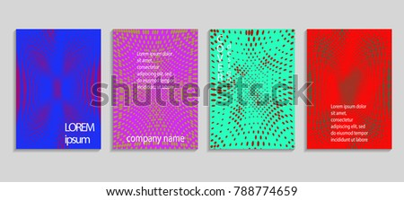 Minimal abstract vector halftone cover design template. Future geometric gradient background. Vector templates for placards, banners, flyers, presentations and reports #788774659