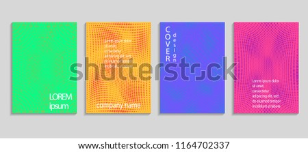 Minimal abstract vector halftone covers design. Future geometric template. Vector templates for placards, banners, flyers, presentations and reports #1164702337