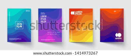 Minimal annual report design vector collection. Eps10 vector.