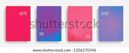 stock-vector-minimal-annual-report-design-vector-collection-halftone-lines-texture-cover-page-layout-templates