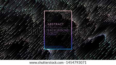 Minimal background with gradient color lines. Geometric trendy design. Pixel sorting glitch style. Eps10 vector illustration