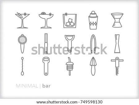 Minimal bar tool icons