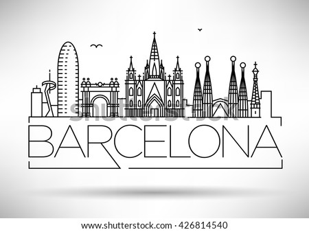 minimal barcelona city linear