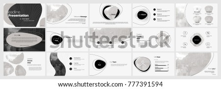 Minimal black presentation templates elements on a white background. Vector infographics. Use in Presentation, flyer and leaflet, corporate report, marketing, advertising, annual report, banner. #777391594