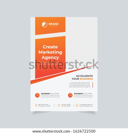 Minimal Business Flyer Corporate Flyer Colorful gradient simple vector