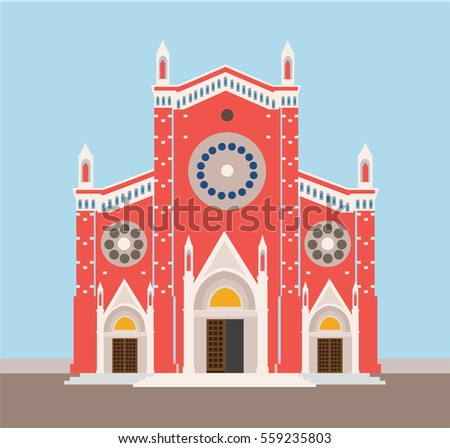 minimal church illustration in