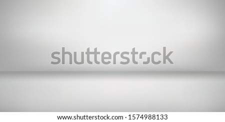 minimal clean gradient light White blank show booth Background empty room studio with modern space for text, picture, product, gallery, banner, presentation, offer. copy space. illustration 3d Vector