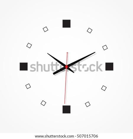 minimal clock design on white