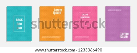 Minimal cover design. Set of geometric pattern background #1233366490
