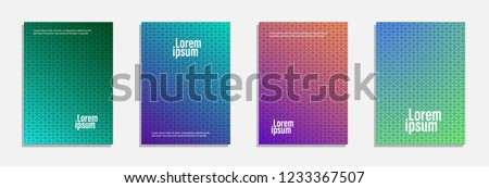 Minimal cover design. Set of geometric pattern background #1233367507
