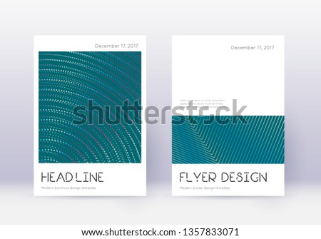 Minimal cover design template set. Red abstract lines on white blue background. Dramatic cover design. Amazing catalog, poster, book template etc.