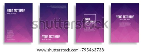 minimal cover design with colorful halftone gradient. vector template brochure, flyer, presentation, leaflet, magazine a4 size - Shutterstock ID 795463738
