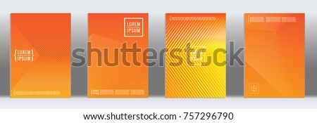 stock-vector-minimal-cover-vector-orange-geometric-abstract-line-pattern-for-poster-design-set-of-minimal