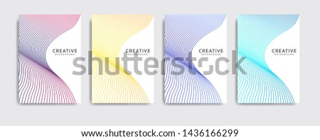 Minimal covers design. Abstract background with dynamic linear waves. Cool gradients. cool background, Future geometric patterns. background modern template design