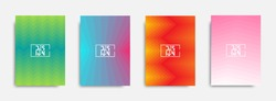 Minimal covers design. Colorful geometric gradients. Vector EPS 10.
