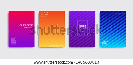 Minimal covers design. Colorful halftone gradients.background modern template design for web. Cool gradients. Future geometric patterns. Eps10 #1406689013