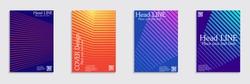 Minimal covers design. Colorful halftone gradients. Future geometric patterns.