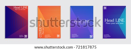 Minimal covers design. Colorful halftone gradients. Future geometric patterns. #721817875
