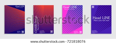 Minimal covers design. Colorful halftone gradients. Future geometric patterns. #721818076