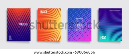 Minimal covers design. Colorful halftone gradients. Future geometric patterns. Eps10 vector. #690066856