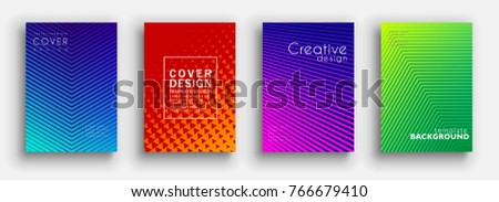 Minimal covers design. Colorful halftone gradients. Future geometric patterns. Vector template brochures, flyers, presentations, leaflet, magazine a4 size
