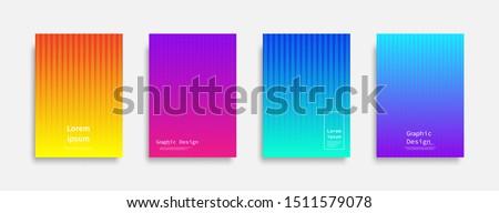 Minimal covers design. colorful line design. Future geometric patterns. Eps10 vector.
