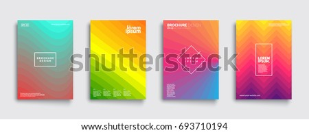 Minimal covers design. Cool geometric gradients. Eps10 vector.