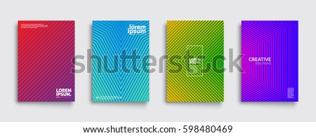 Minimal covers design. Cool halftone gradients. Future geometric template. Eps10 vector. - Shutterstock ID 598480469