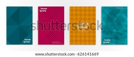 Minimal covers design. Geometric halftone gradients and figures. Eps10 vector. #626141669