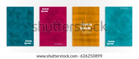 Minimal covers design. Geometric halftone gradients. Eps10 vector. #626250899